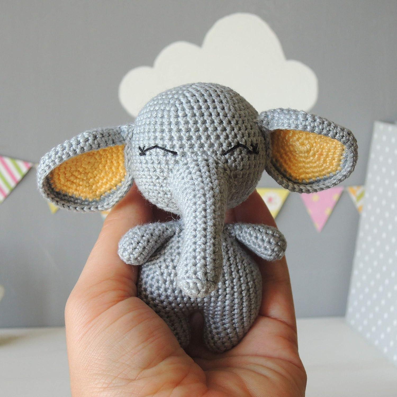 7baf5d907c2f5 Amazon.com: Stuffed Animal Elephant, Soft Toy, First Birthday Gift ...