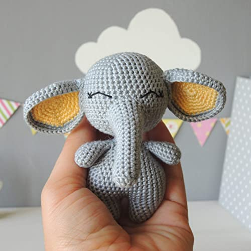 Stuffed Animal Elephant Soft Toy First Birthday Gift For Boy Or Girl Baby