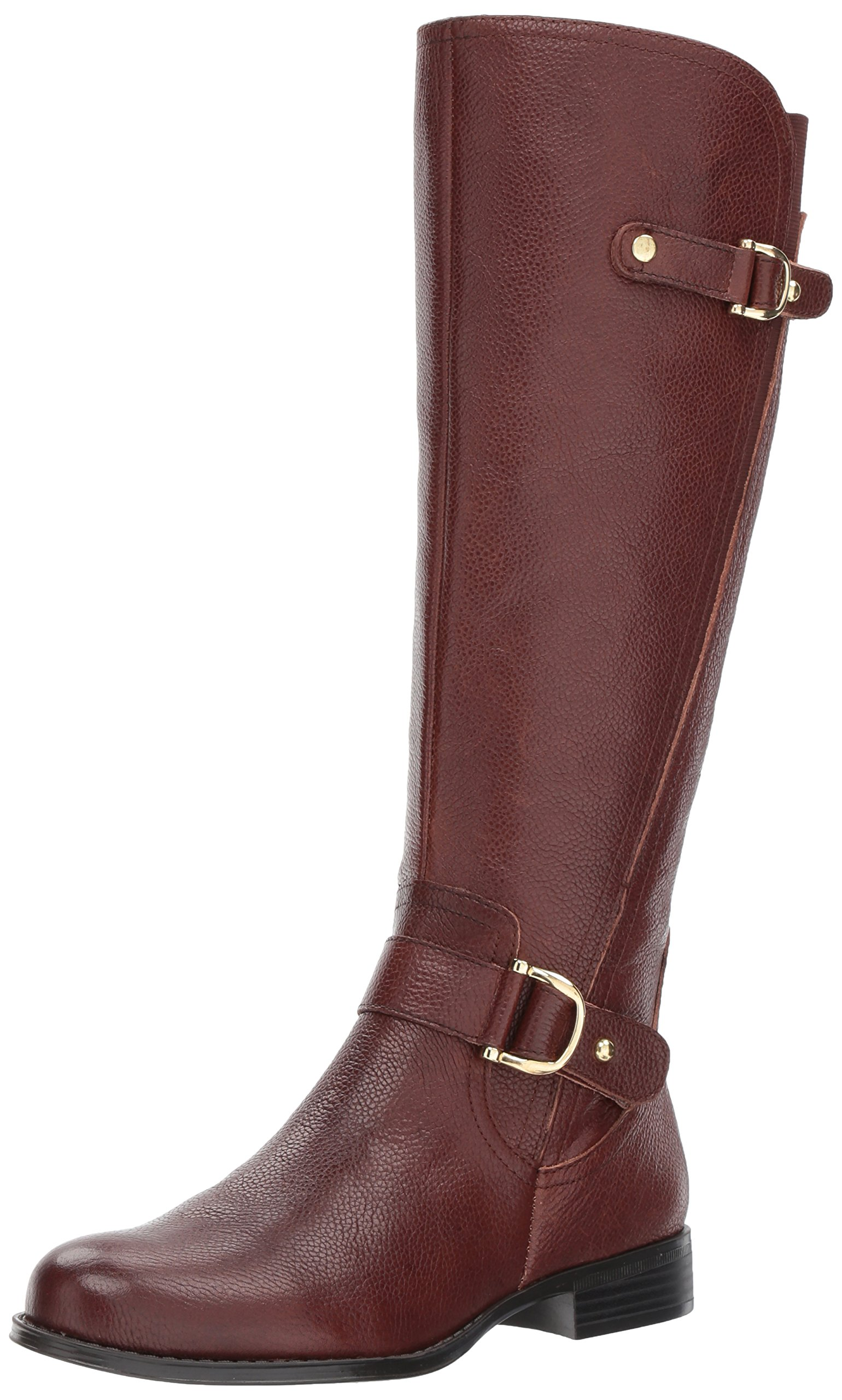 Naturalizer Women's Jenelle Riding Boot, Brown, 8.5 W US