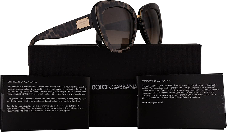 Dolce & Gabbana DG4296 gafas de sol w/Brown Gradient lente 53mm 199513 DG4296 / S DG 4296 mujer Leoprint Grande: Amazon.es: Ropa y accesorios