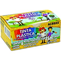 Tinta Plástica 15 ml, Acrilex, 03215, Multicor