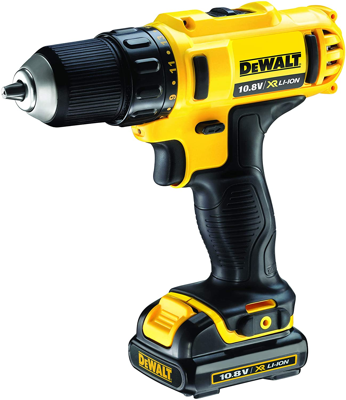 Dewalt DCD710C2-QW Taladro Atornillador XR 10 Amarillo Negro 180 W 10.8 V