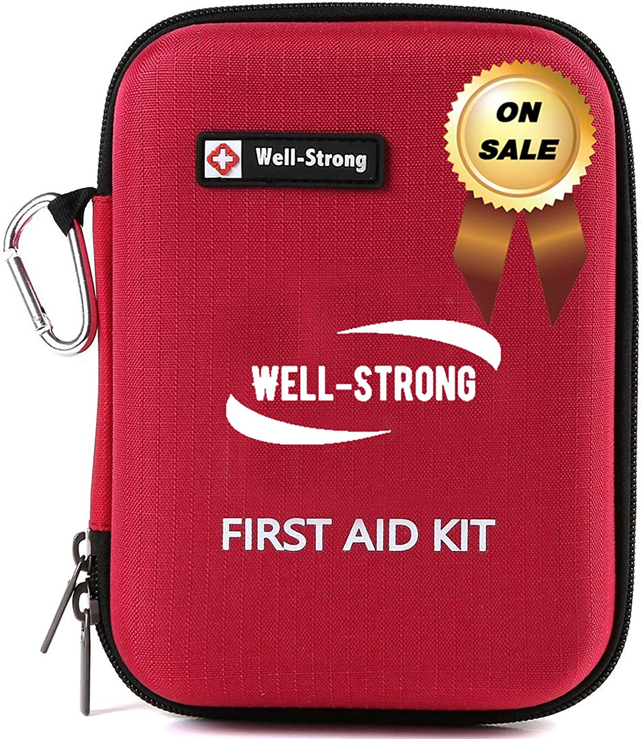 WELL-STRONG First Aid Kit 128 Pieces First Aid Kit Emergency kit for Home, Car, School, Office, Sports, Travel, Camping or Any Other Outdoors Activities