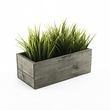 CYS EXCEL Indoor Rustic Planter Box, Available, Wood Planter, Decorative Box, Succulent and Floral Arrangements, Box with Removable Plastic Liner, H:4  Open:10x5
