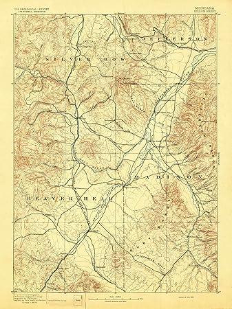 Amazon Com Montana Maps 1893 Dillon Mt Usgs Historical