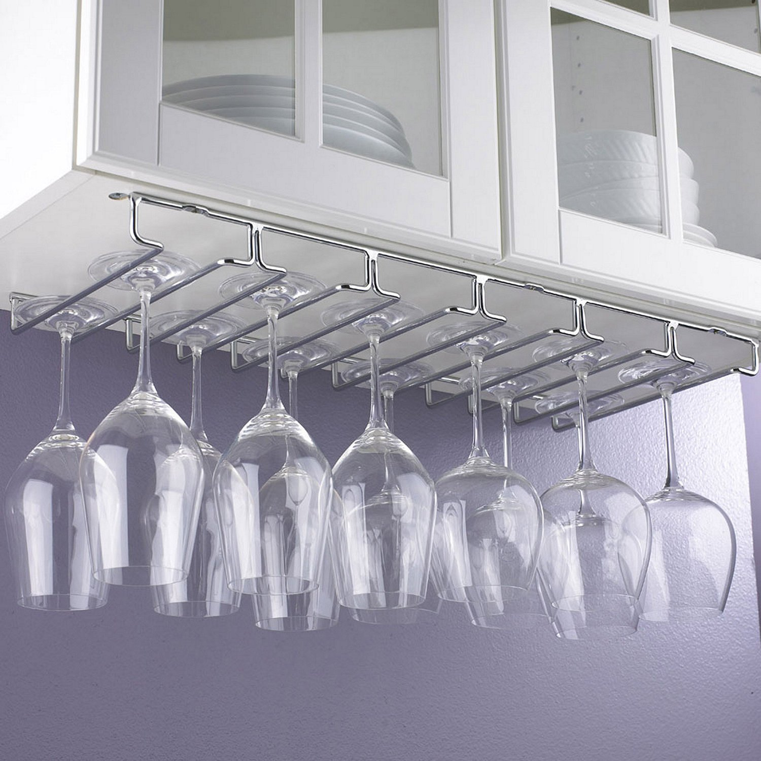 Wine Enthusiast Large Under Cabinet Stemware Rack by Wine Enthusiast