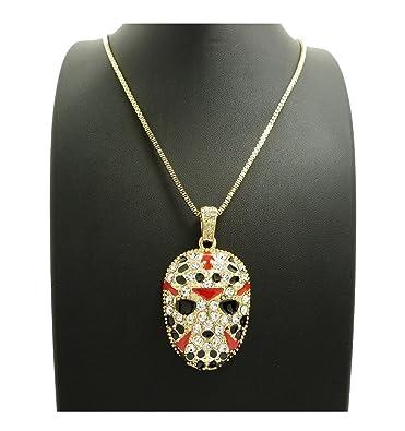 Shiny Jewelers USA MENS ICED OUT RAPPER MASK HIP HOP PENDANT 24 BOX