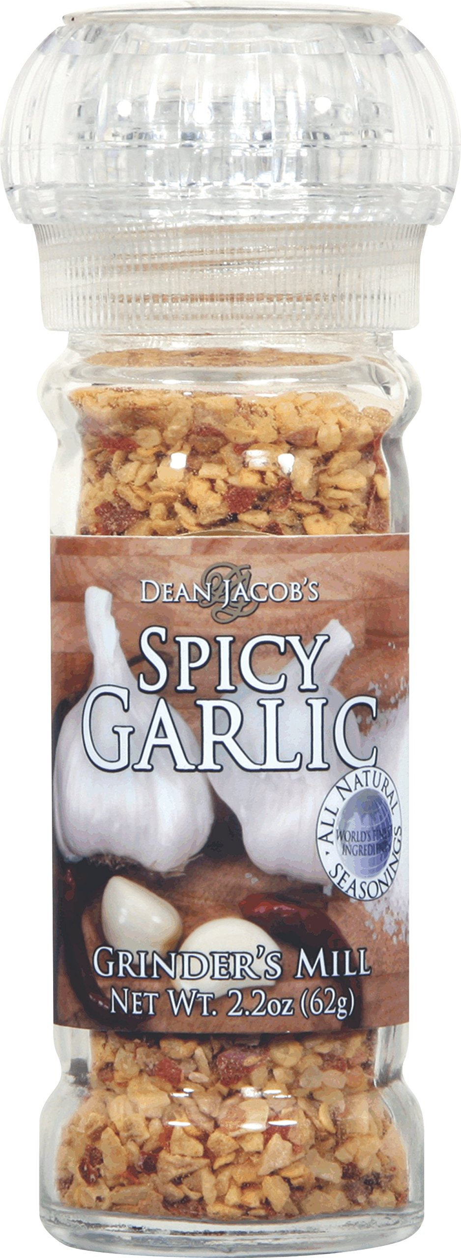 Dean Jacobs Grinder Spicy Garlic, 2.2-Ounce by Dean Jacob's (Image #1)