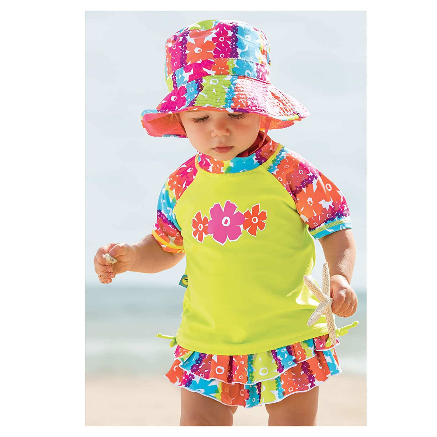 Sun Smarties Babies Toddler Kids UPF 50 Short Sleeve Rash Guard Sun Swim Shirts