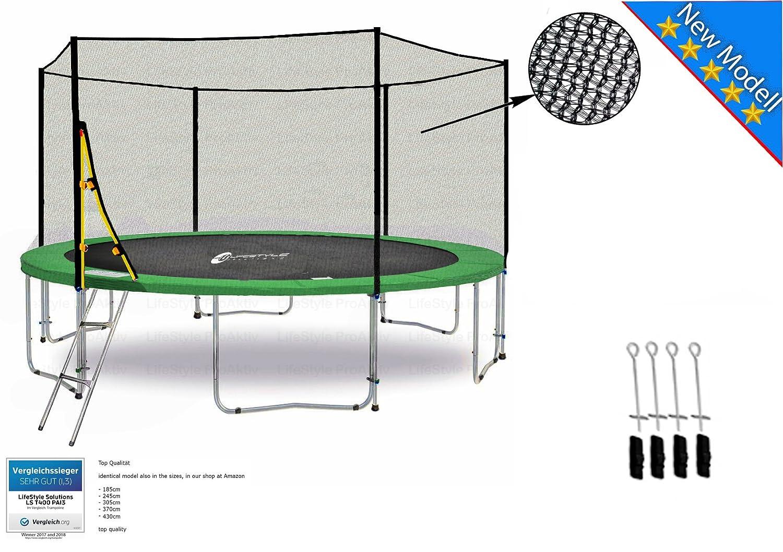 Unbekannt LS-T430-PA14 (Ga) Lifestyle ProAktiv Garten- Trampolin 430 cm - 14ft - Extra Starkes Sicherheitsnetz - 180kg Traglast