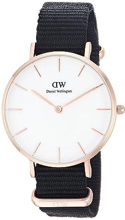 Daniel Wellington Reloj Analógico para Mujer de Cuarzo con Correa en Nailon DW00100253: Amazon.es: Relojes