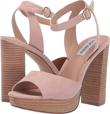 00b67b9f0e607 Amazon.com | Steve Madden Women's Epic Blush 9 M US | Sandals