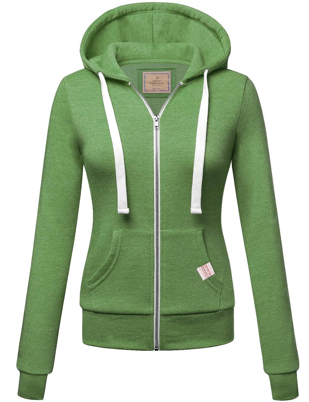 Fifth Parallel Threads FPT Women's Basic Zip Up Hoodie Fleece Jacket