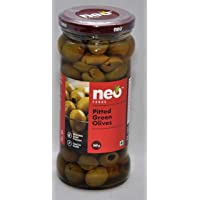 Neo Foods Pitted Green Olives, 360g