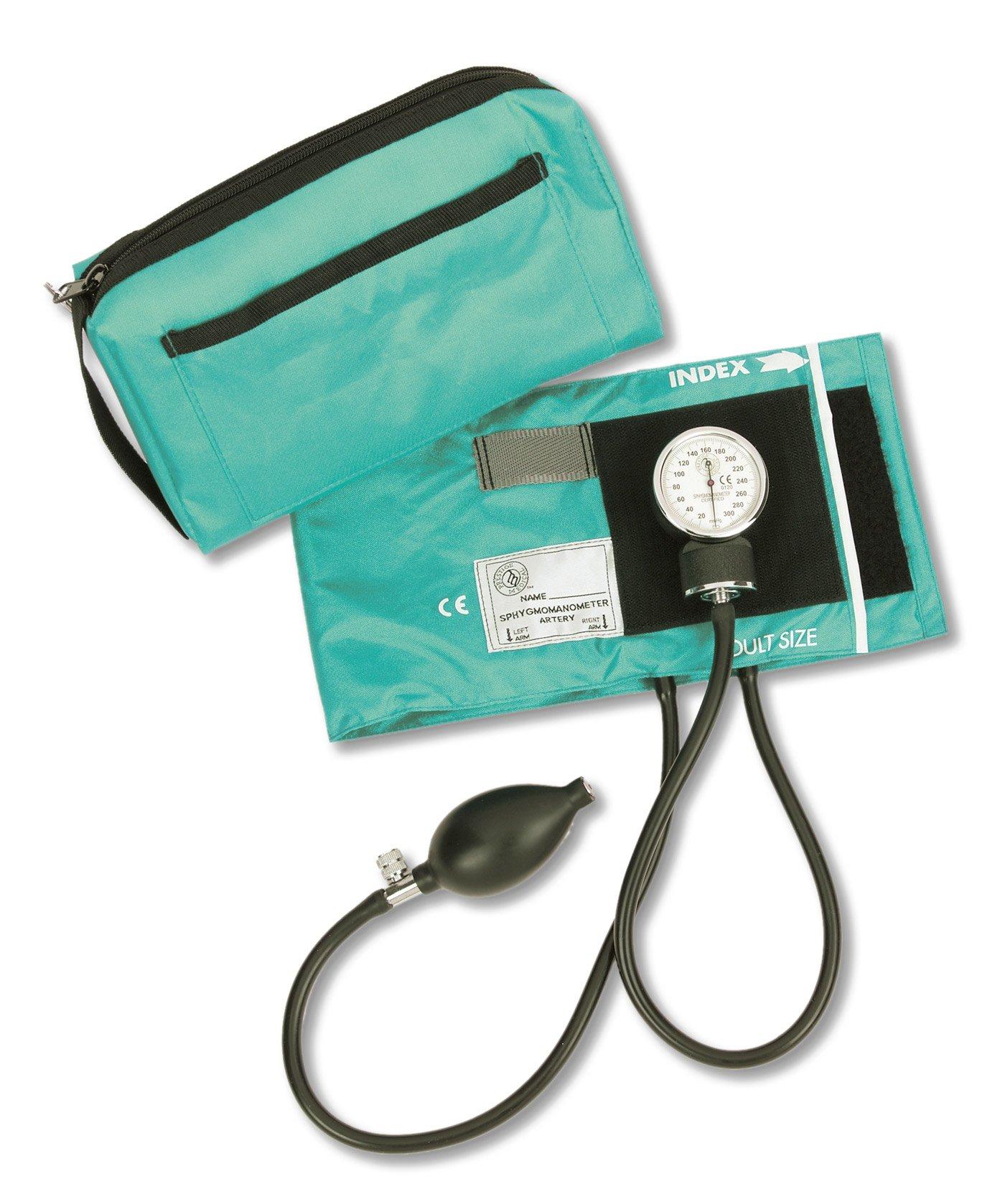 Prestige Medical Sphygmomanometer with Color Coordinated Carrying Case, Teal by Prestige Medical (Image #1)