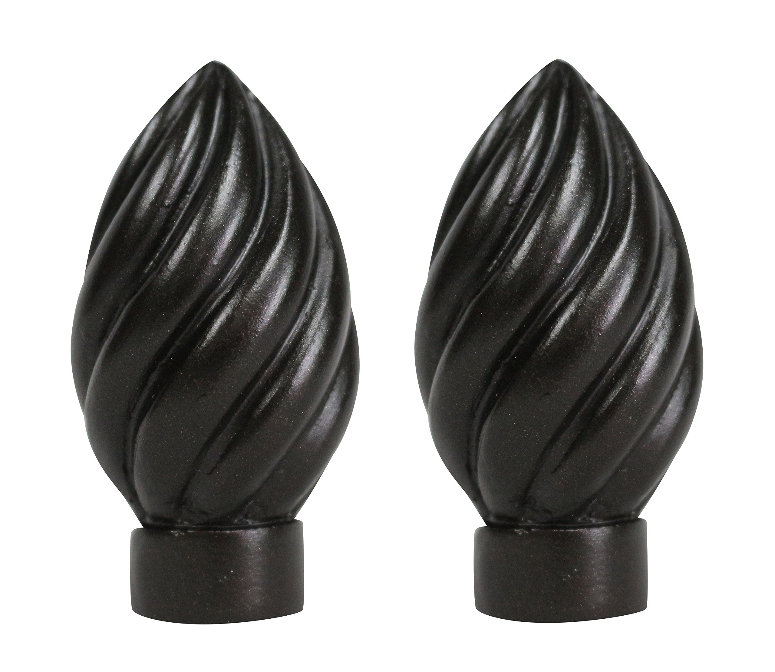 Urbanest Set of 2 Worcester Finial, 2 3/8-inch Tall, Oil-rubbed Bronze