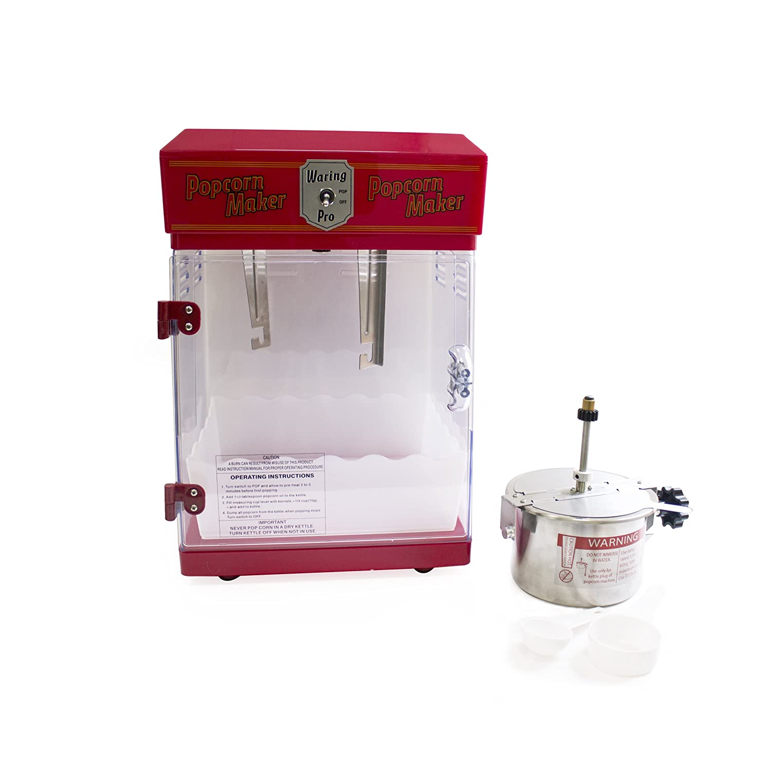 Waring Pro Wpm25 Professional Popcorn Maker Red Roosevelt Popper Machine Wiring Diagram Electric Poppers Kitchen Dining