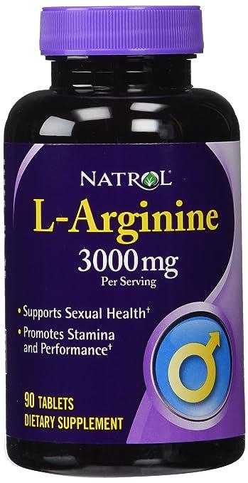 TWO BOTTLES: Natrol L-Arginine 3000mg 180 Tablets - Extra ...