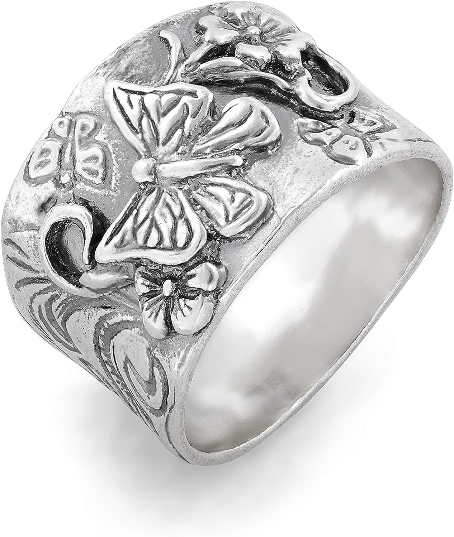 Sterling Silver Spring Tree Full Finger Ring