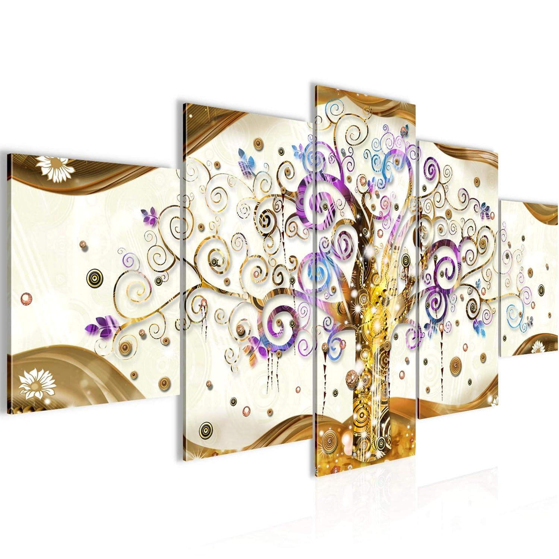 Photo Gustav Klimt Toile Taille XXL Salon Appartement D/écoration Photos dart Bleu 5 Parties 100/% MADE IN GERMANY pr/êt /à accrocher 003051b Arbre de vie D/écoration Murale 200 x 100 cm Toison