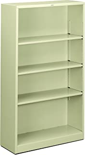 product image for HON Brigade Metal Bookcase - Bookcase with Two Shelves, 34-1/2w x 12-5/8d x 59h, Putty (HS60ABC)