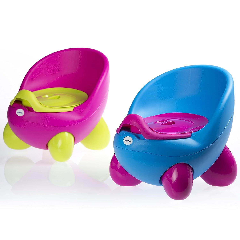 Luvdbaby - Asiento infantil con orinal extraíble en el interior, con respaldo alto y diseño ergonómico, pies antideslizantes rosa PT1