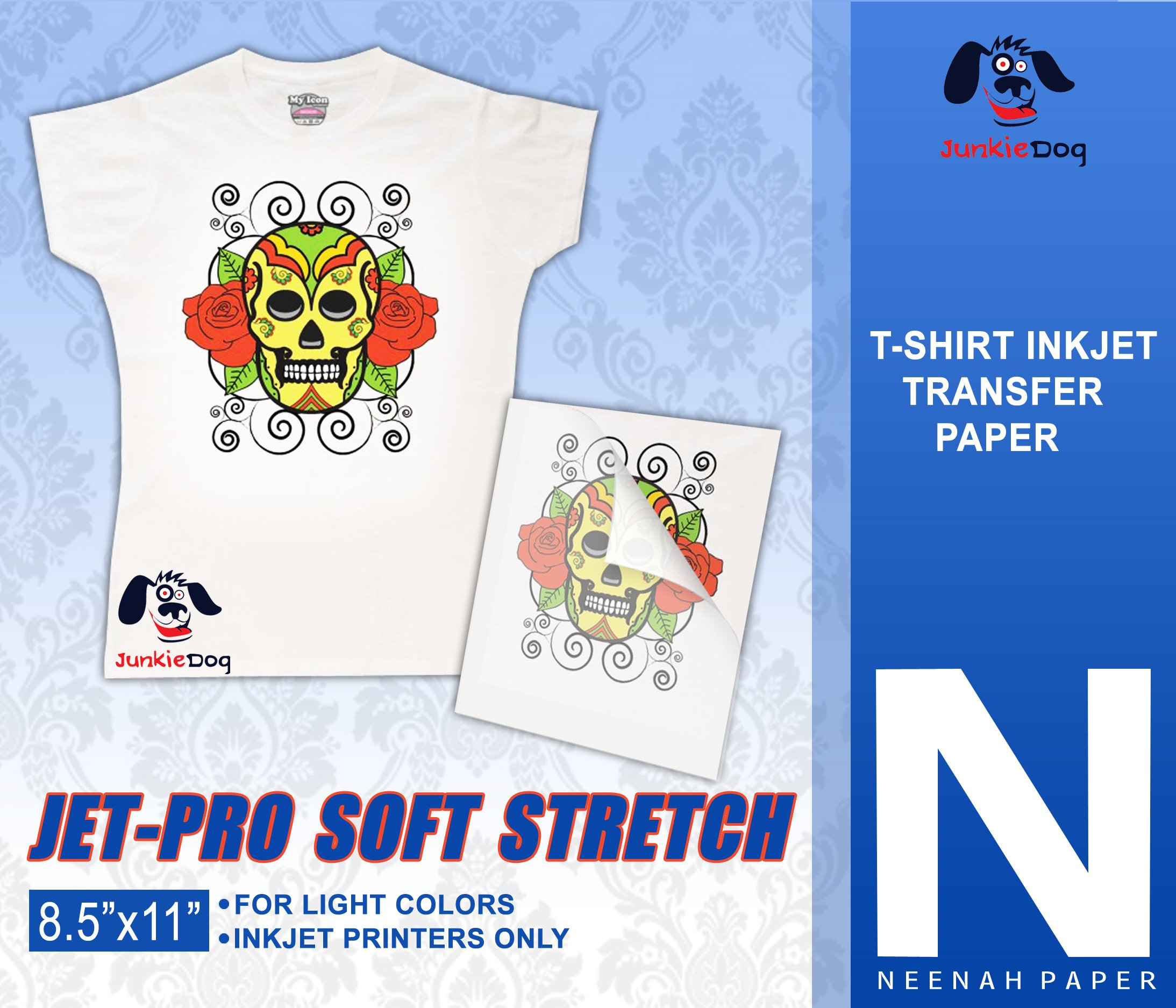 JET-PRO®SS JETPRO SOFSTRETCH HEAT TRANSFER PAPER 8.5 X 11'' CUSTOM PACK 50 SHEETS
