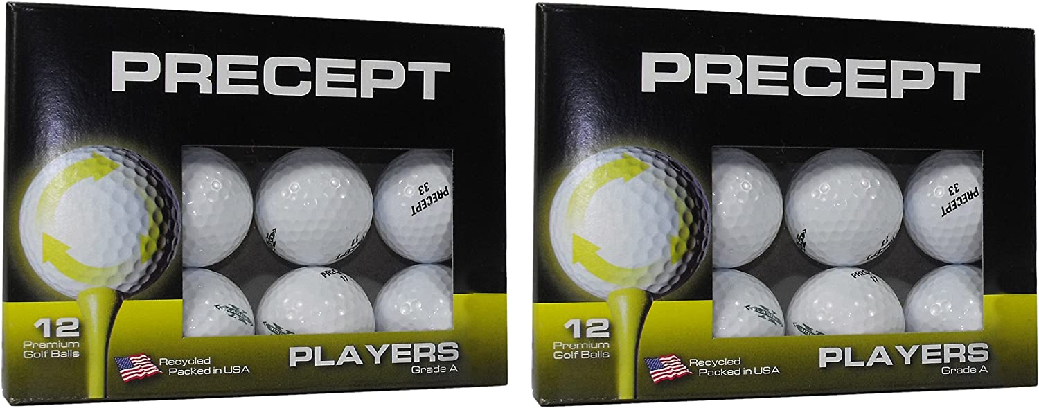 Precept A Grade Recycled Golf Balls in Excellent Condition – 2 12 Pack Boxes