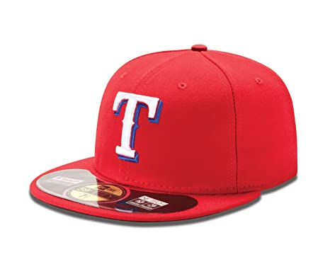 reputable site 097ed ef903 New Era MLB Texas Rangers Alternate AC On Field 59Fifty Fitted Cap,  Scarlet, 7