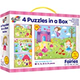 Galt 1004738 Toys, Four Puzzles in a Box - Fairies (72 Piece)