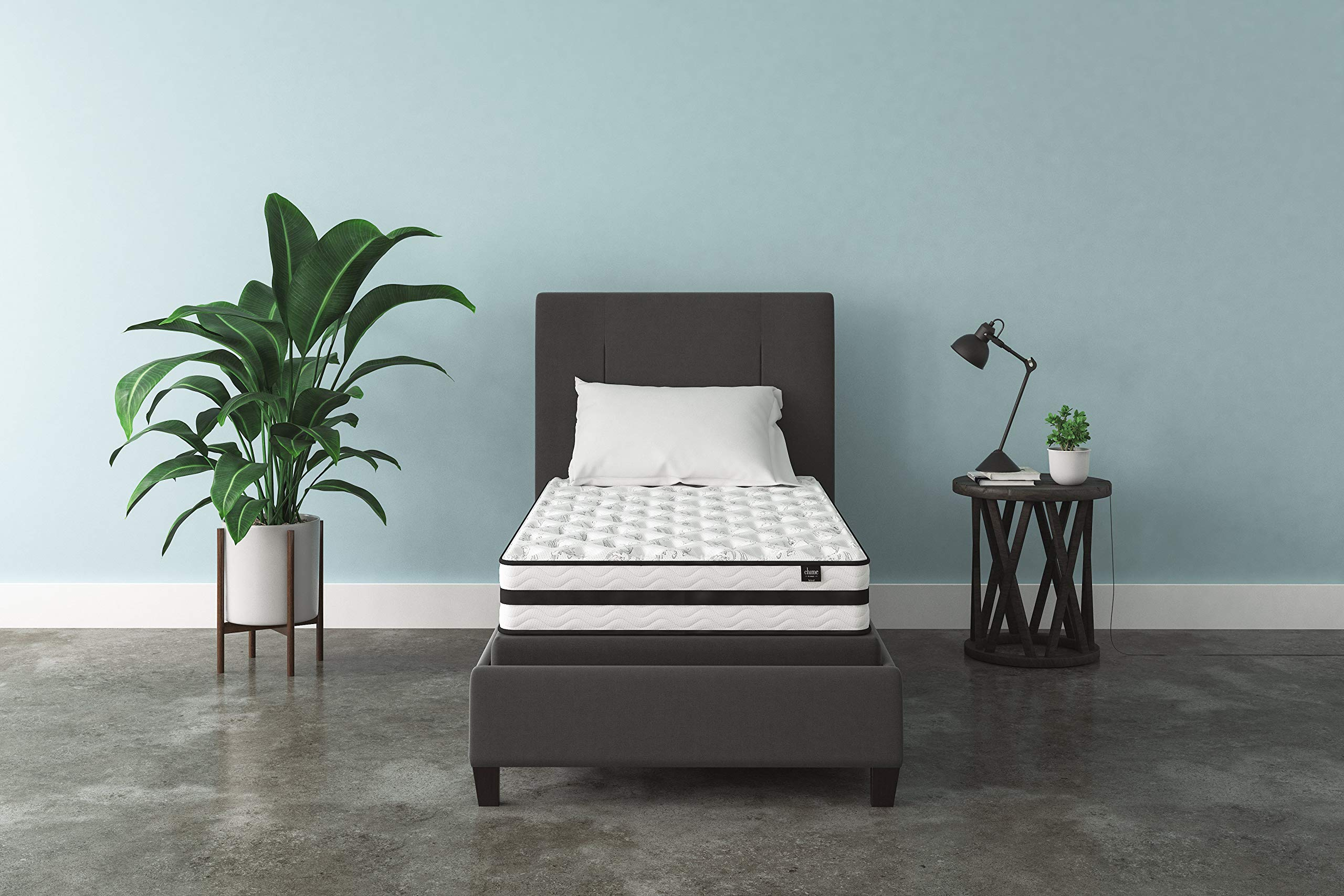 Ashley Furniture Signature Design - 8 Inch Chime Express Hybrid Innerspring - Firm Mattress - Bed in a Box - Twin - White by Signature Design by Ashley