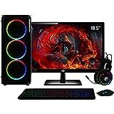 "PC Gamer Completo AMD 6-Core CPU 3.8Ghz 8GB (Placa de vídeo Radeon R5 2GB) SSD 120GB Kit Gamer Skill Monitor HDMI LED 19.5"" C"