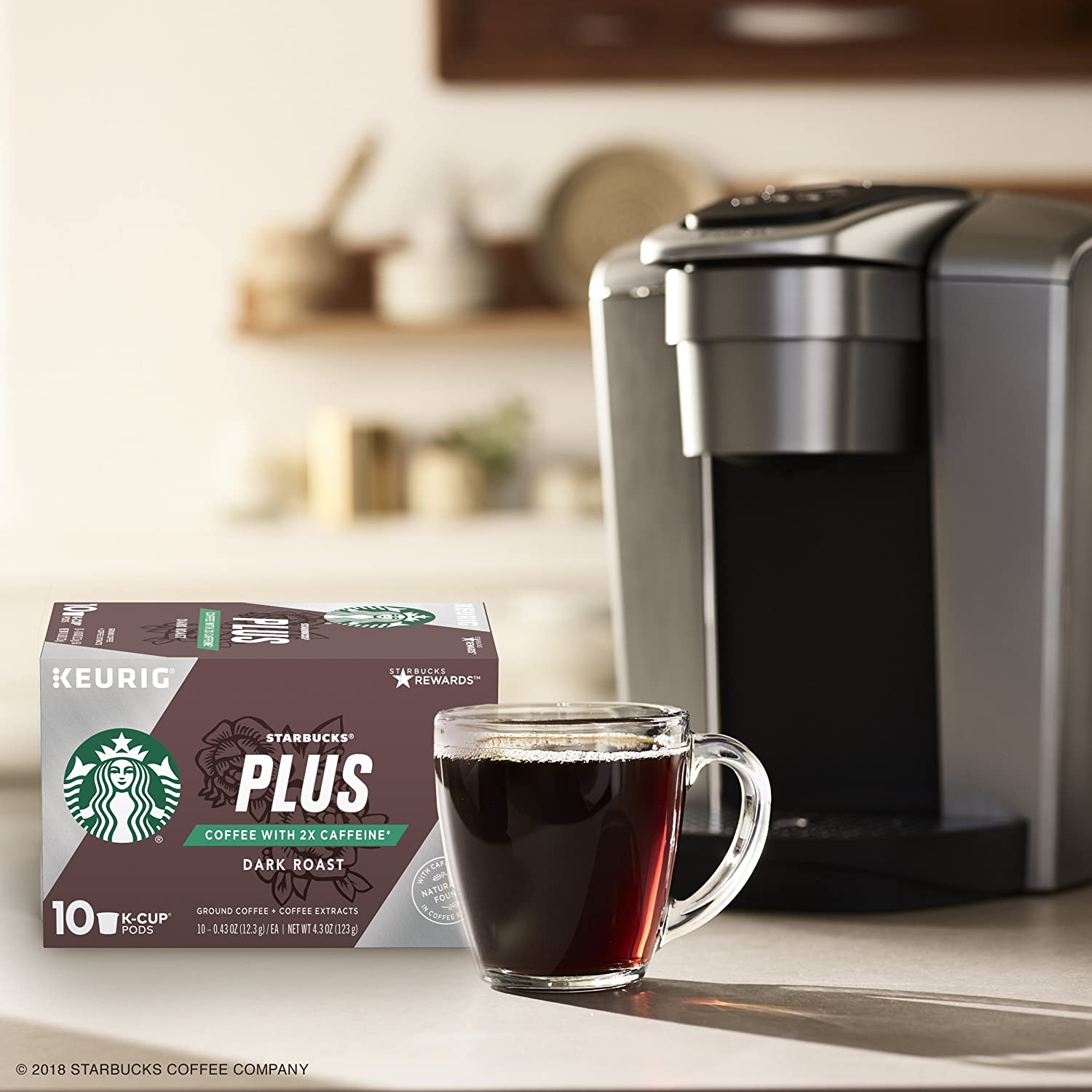 11c2dd01d88 Starbucks Plus Coffee 2X Caffeine Dark Roast Single Cup Coffee for Keurig  Brewers, 6 Boxes of 10 (60 Total K-Cup Pods): Amazon.com: Grocery & Gourmet  Food