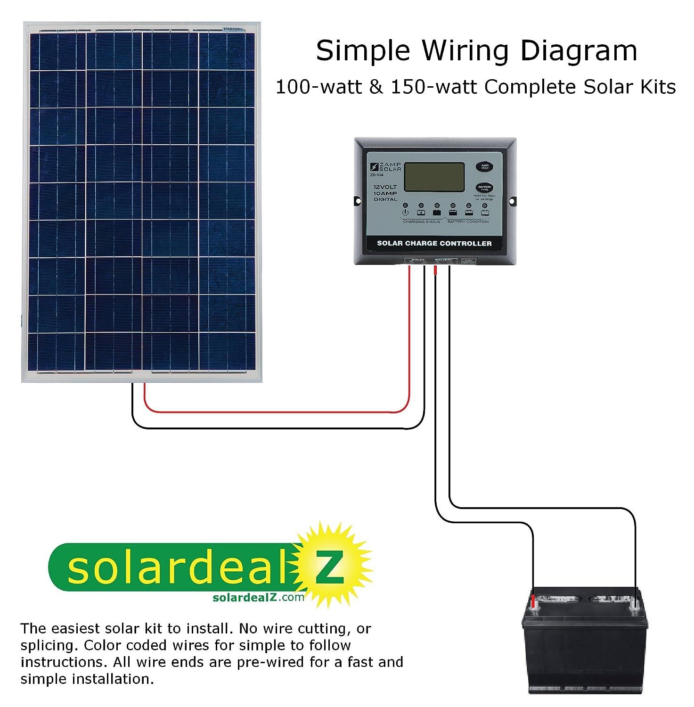 Roof Top Mounted 150 Watt Solar Rv Kit Garden Outdoor Complete System 12 Volt Wiring Diagram
