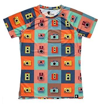 Camiseta Running Divertida Niño, Niña, Manga Corta, Gimnasio #ColorCameras: Amazon.es: Deportes y aire libre