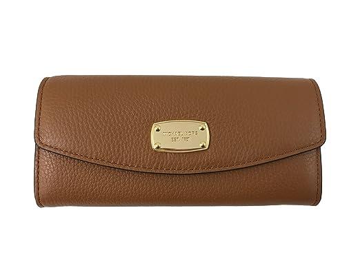 83b5738669ed Image Unavailable. Image not available for. Color: Michael Kors Jet Set  Slim Flap Pebbled Leather Wallet Acorn