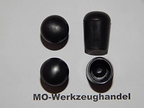 Gleitkappe zum Aufstecken Rohrkappen aus Kunststoff Farbe: Schwarz Rund 16 St/ück Stuhlbeinkappen Innendurchmesser: 16 mm
