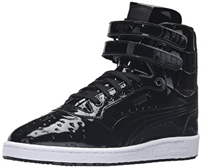 PUMA Men's Sky II Hi Patent Emboss Fashion Sneaker, Black, ...