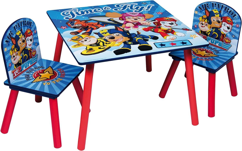 Set tavolo e sedie per bambini in legno a tema