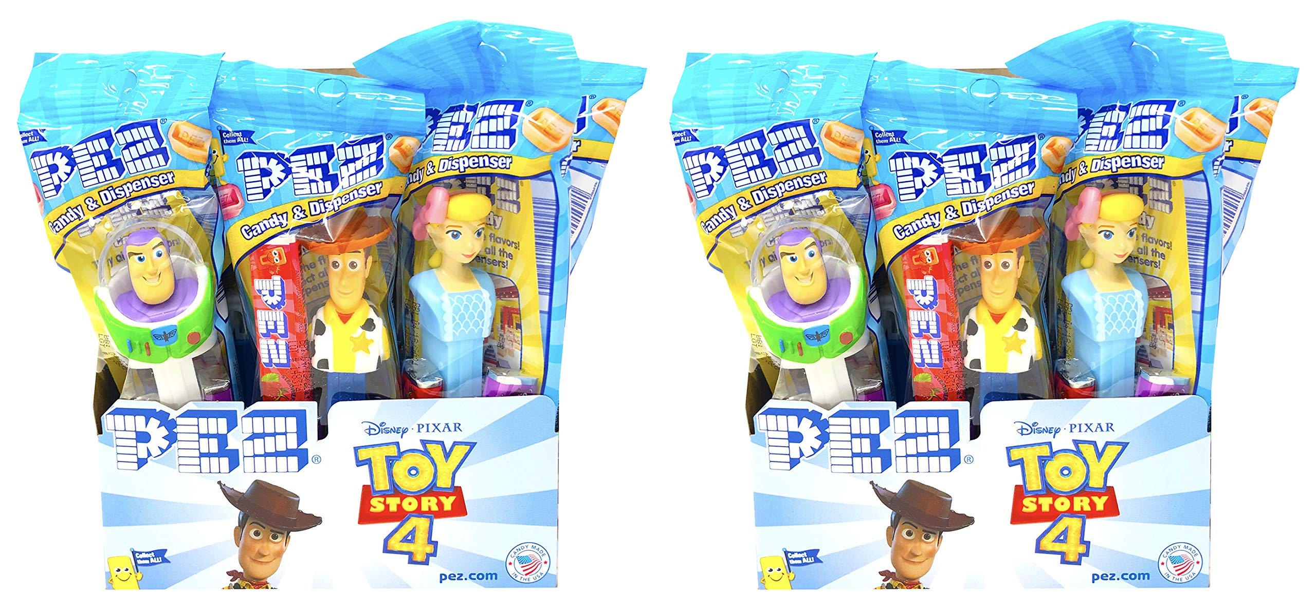 CDM product PEZ Toy Story 4 Candy Dispensers Individually Wrapped PEZ Candy and Dispensers with Tru Inertia Kazoo 24 Pack big image