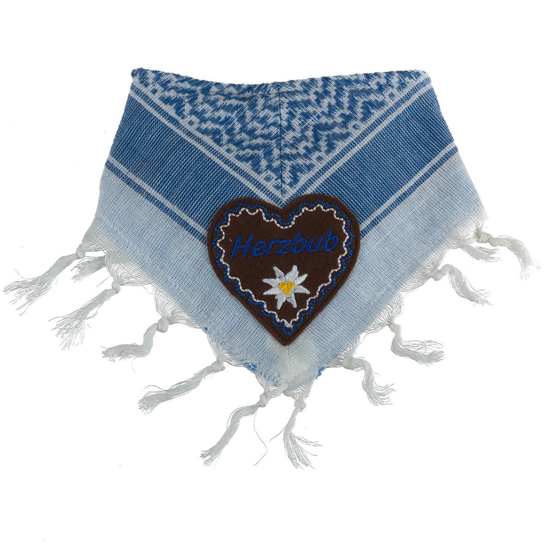 Eisenherz Baby Tuch Spuktuch mit Frottee und Klettverschluß 100% Baumwolle für Jungs Herzbub