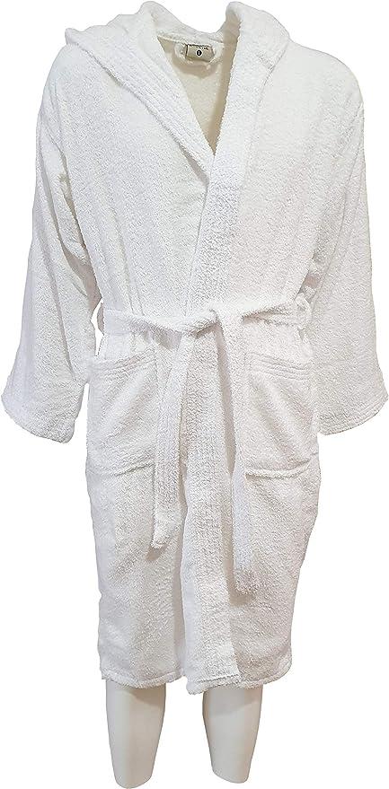 KISENE - Albornoz de Suave Rizo de Puro algodón para Hombre, Mujer, niños, Color Liso, Ideal para Uso Deportivo: Amazon.es: Hogar