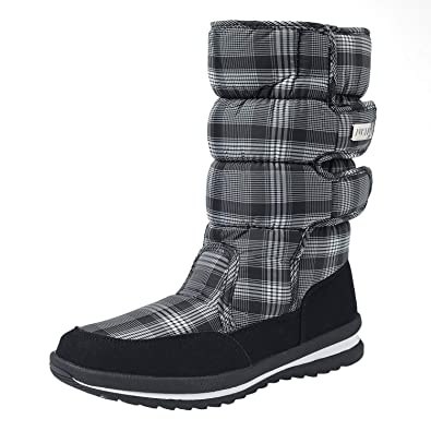 Shenji Scarpe Donna Invernali Stivali da Neve A Mezza Gamba Antisdrucciolo H9489