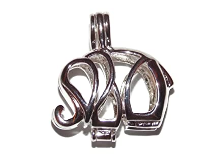 Amazon elephant sterling silver pearl cage pendant old school elephant sterling silver pearl cage pendant old school geekery tm brand jewelry making supplies aloadofball Gallery