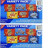 Nabisco Mini Snack Variety Pack, 1 oz, 40 Count (2 Pack)