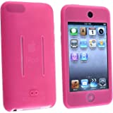 Insten Soft Silicone Skin Case Shield for iPod touch 1G/2G/3G (Hot Pink)