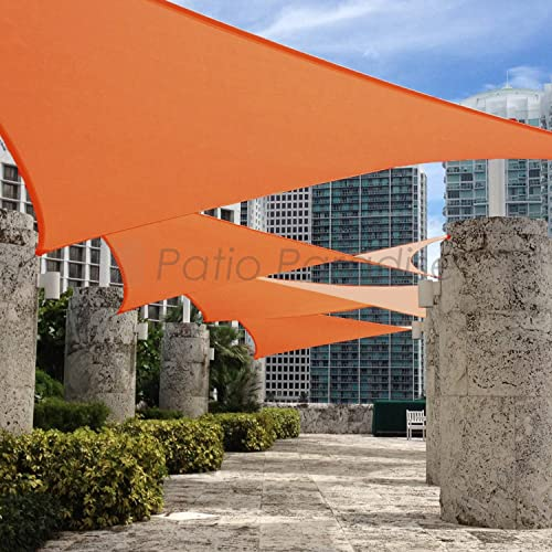 Patio Paradise 17' x 22' FT Orange Sun Shade Sail Rectangle Square Canopy