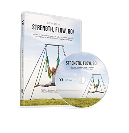 Yoga Trapeze [Official] DVD | Strength, Flow, Go! | Level II Series by YOGABODY & PDF Pose Chart