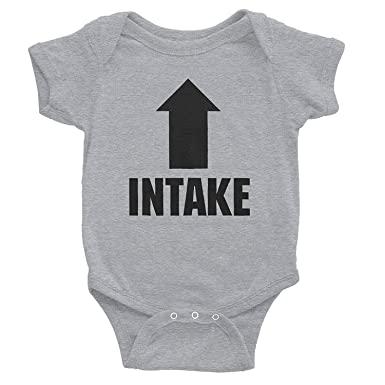 dfb7bd33c LilyNa Intake Exhaust - Funny Infant Baby Gift - Onesie T-Shirt 18 Months