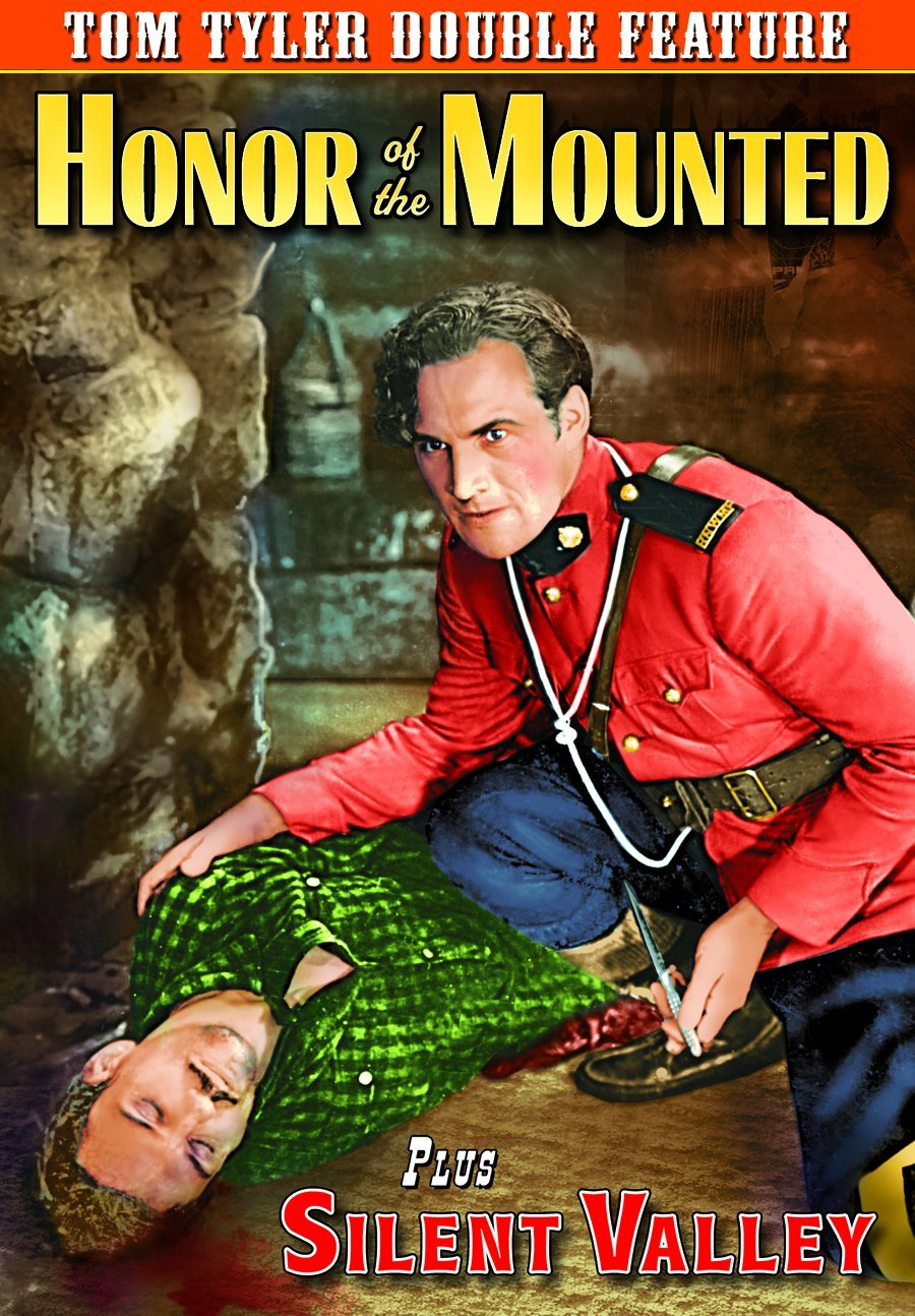 DVD : Tom Tyler - Honor Of The Mounted /  Silent Valley (Black & White)